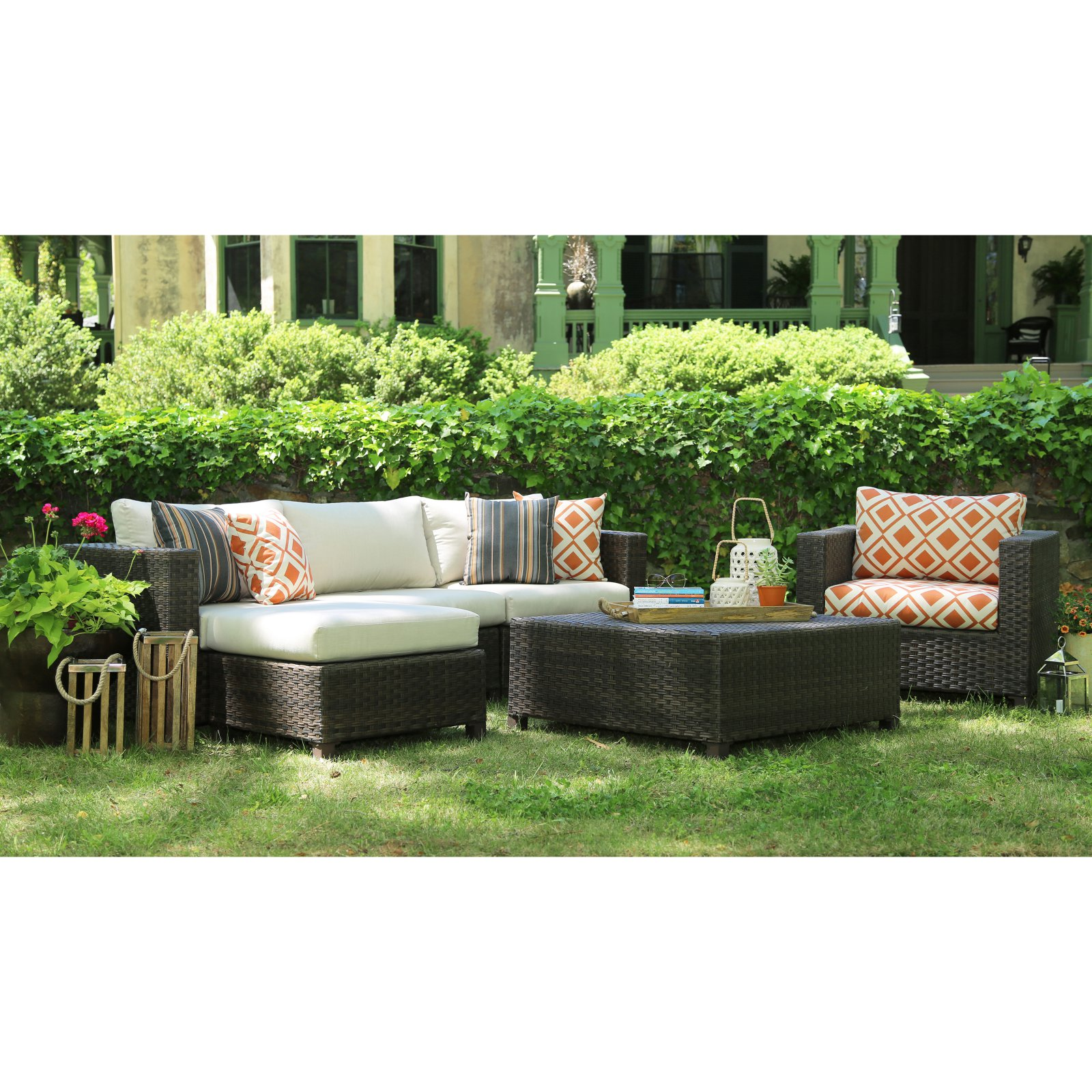 AE Outdoor Biscayne 5 Piece Deep Seating Conversation Set