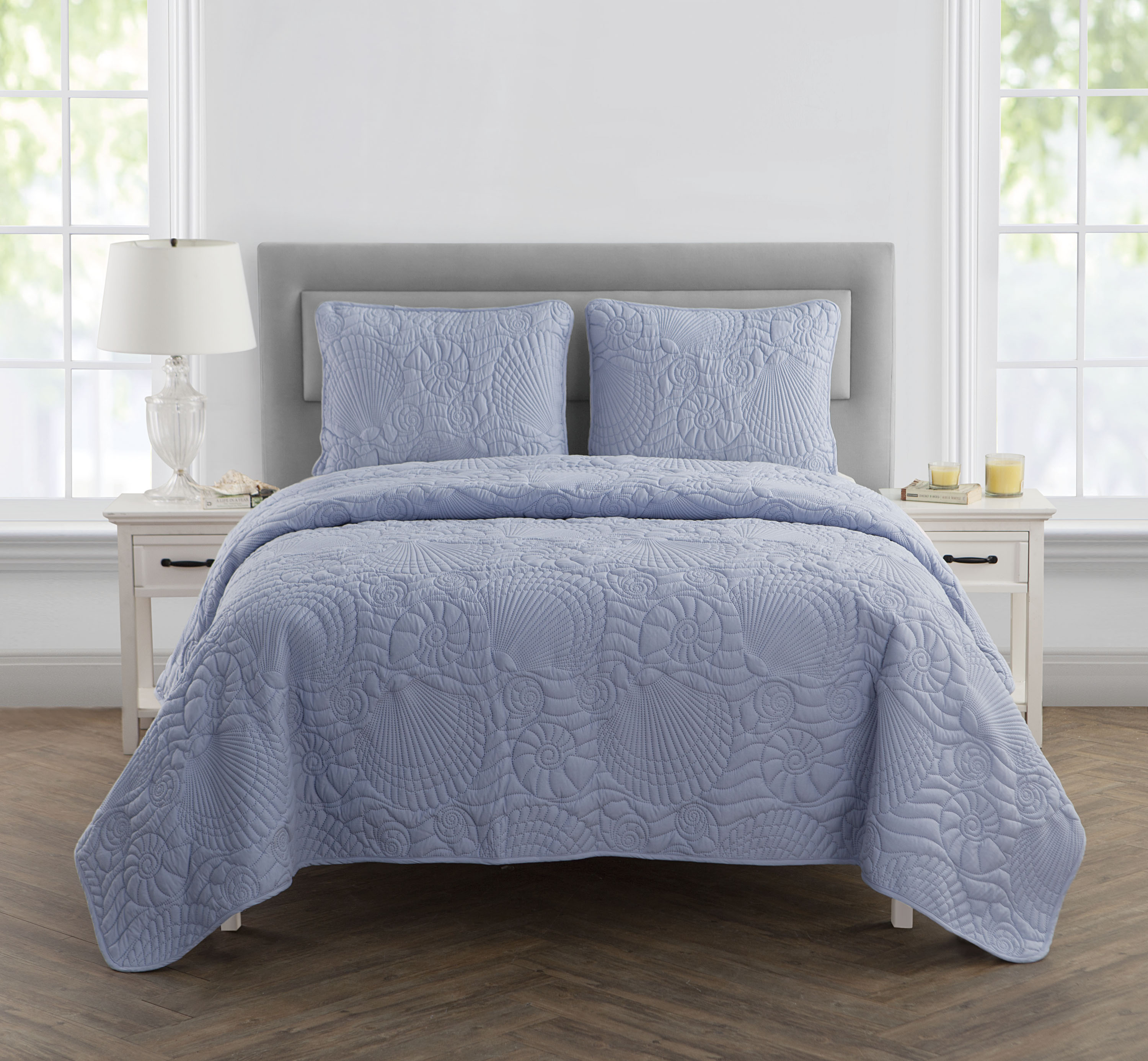 VCNY Home Shells Coastal-Inspired 2 3 Piece Embossed Bedding Quilt Set, Multiple Colors... by VCNY Home