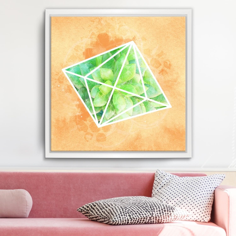 Ready2hangart Crystal Terrarium Framed Succulent Canvas Wall Art Walmart Com Walmart Com