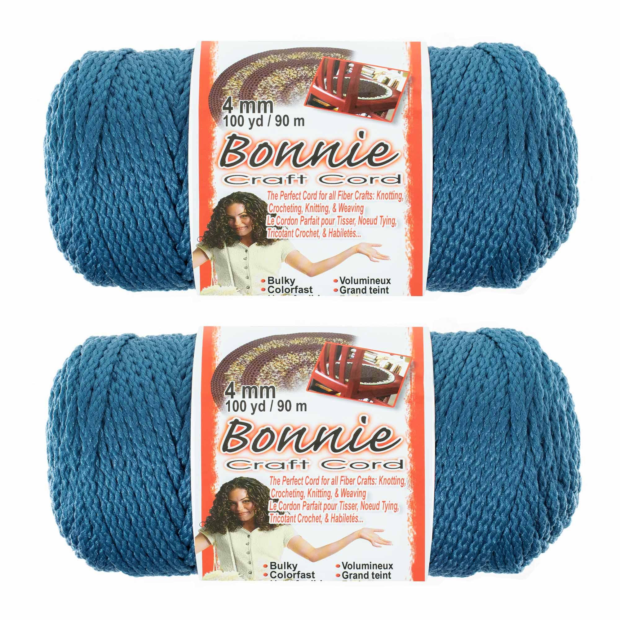 100 yd Lengths Various Colors 4mm 2 Pack Bonnie Macram/é Cord