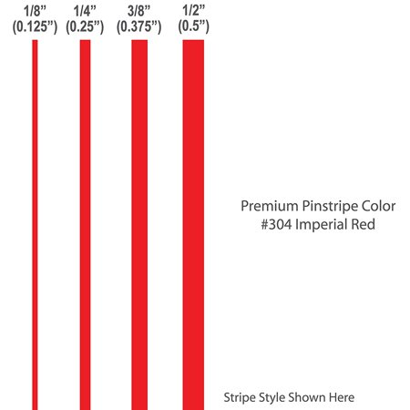 """1/8"""" inch wide PREMIUM Pinstripes / IMPERIAL RED / car truck auto vehicle door motorcycle vinyl sticker pin strip pinstriping tape custom decal / By 1060 Graphics. for $<!---->"""