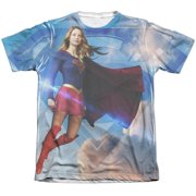 Supergirl Up In The Sky (Front Back Print) Mens Sublimation Shirt