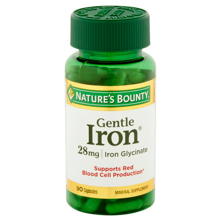 - (2 Pack) Nature's Bounty Gentle Iron Capsules, 28 Mg, 90 Ct