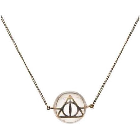 Harry Potter Deathly Hallows Acrylic Bubble Necklace Apparel - Bubble Necklaces