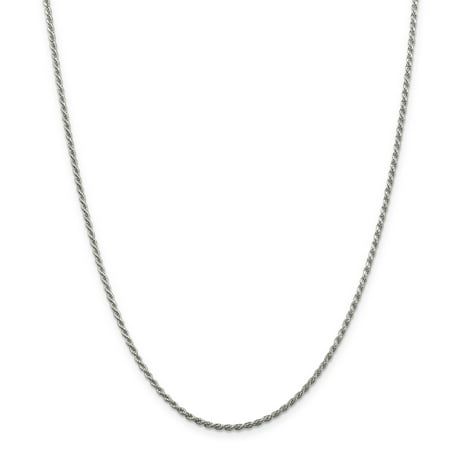 925 Sterling Silver 1.85mm Link Rope Chain Necklace 22 Inch Pendant Charm Fine Jewelry Ideal Gifts For Women Gift Set From Heart