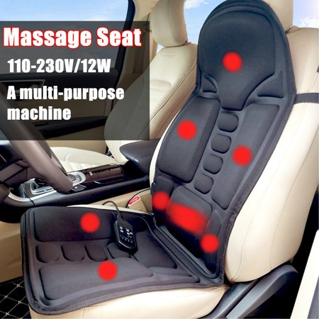 2 IN 1 8 Motor Massaging Back Massage Seat Pad Home Car Massager Chair Cushion  - image 1 of 10
