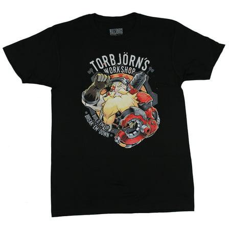 Overwatch Mens T-Shirt -Torbjorn's Workshop Logo