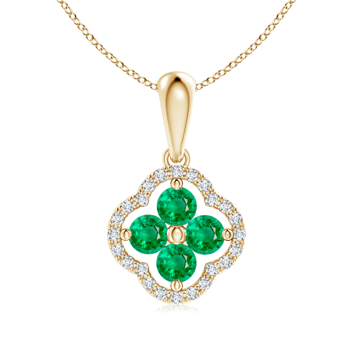 Angara May Birthstone Necklace for Women in White Gold S8jk5D
