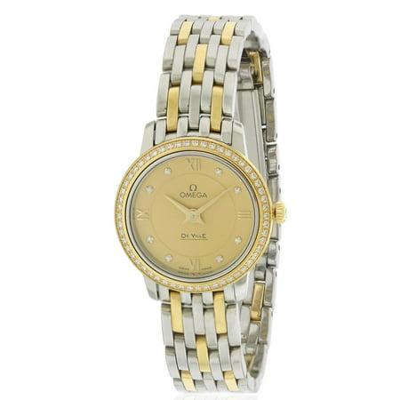 Omega DeVille Prestige Two-Tone Ladies Watch 424.25.24.60.58.001