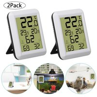 Large LCD Indoor Thermometer Humidity Monitor Weather Station with Temperature Gauge Humidity Meter Hygrometer,Small and Portable Design,Simple Humidity Level Indicator