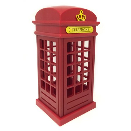 British Telephone Booth Novelty Light, Rechargable Batteries with USB Cord - Walmart.com