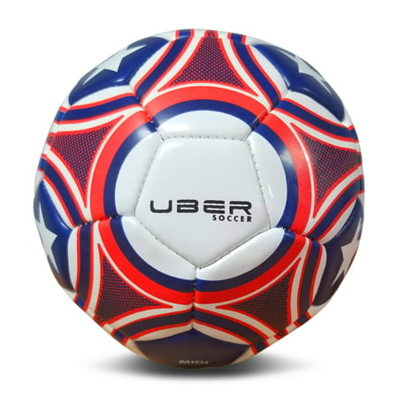Uber Soccer USA Trainer Ball - Red, White, and