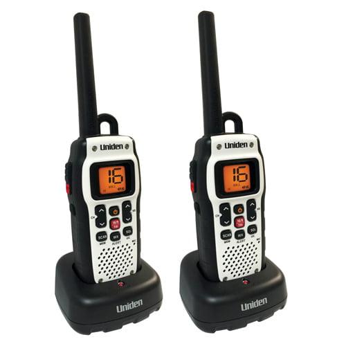 Uniden Atlantis 150 (2 Pack) VHF Marine Radio with Power Boost PTT Key