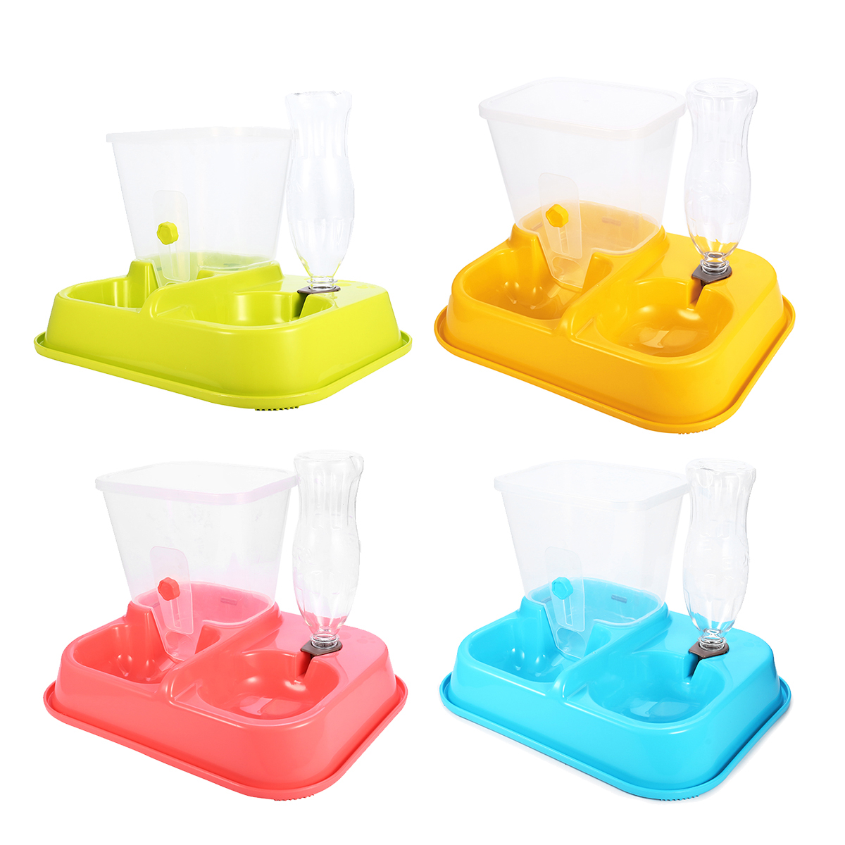 2 in1 Automatic Pet Feeder,Pet Water Feeder Fountain,Dog Cat Water Food Dispenser Bowl,Pet Waterer Feeder Replenish Set