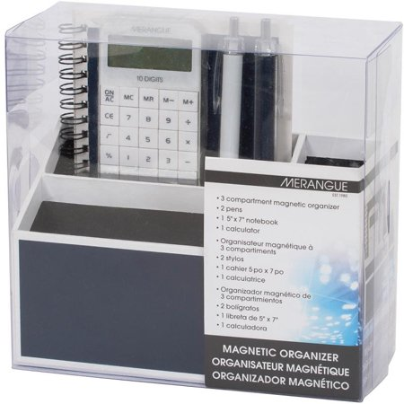 Magnetic Desk Organizer Set 5pcs Navy Blue With White Trim