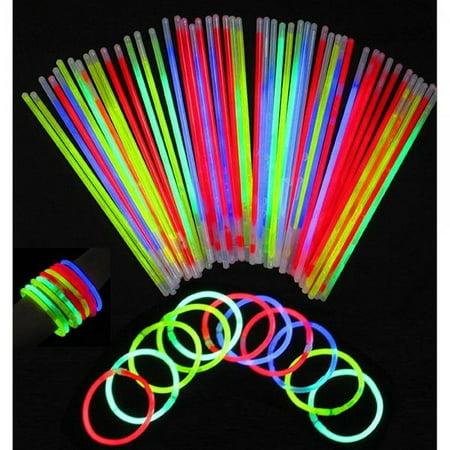 Vivii Glowsticks, 100 Light up Toys Glow Stick Bracelets Mixed Colors Party Favors Supplies (Tube 100) (Glow Tubes)