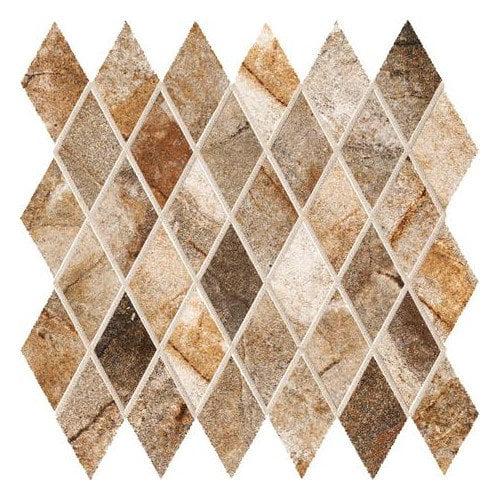 Marazzi Vesale Stone 2'' x 3.5'' Porcelain Mosaic Tile in Rust