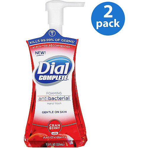 Dial Complete Cranberry Antibacterial With Antioxidants Foaming Hand Wash, 7.5 fl oz (Pack of 2)