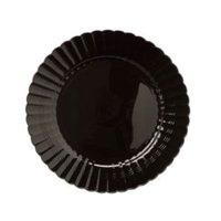 Black 7 1/2 Inch Plastic Salad Plates,Case of 180 EA