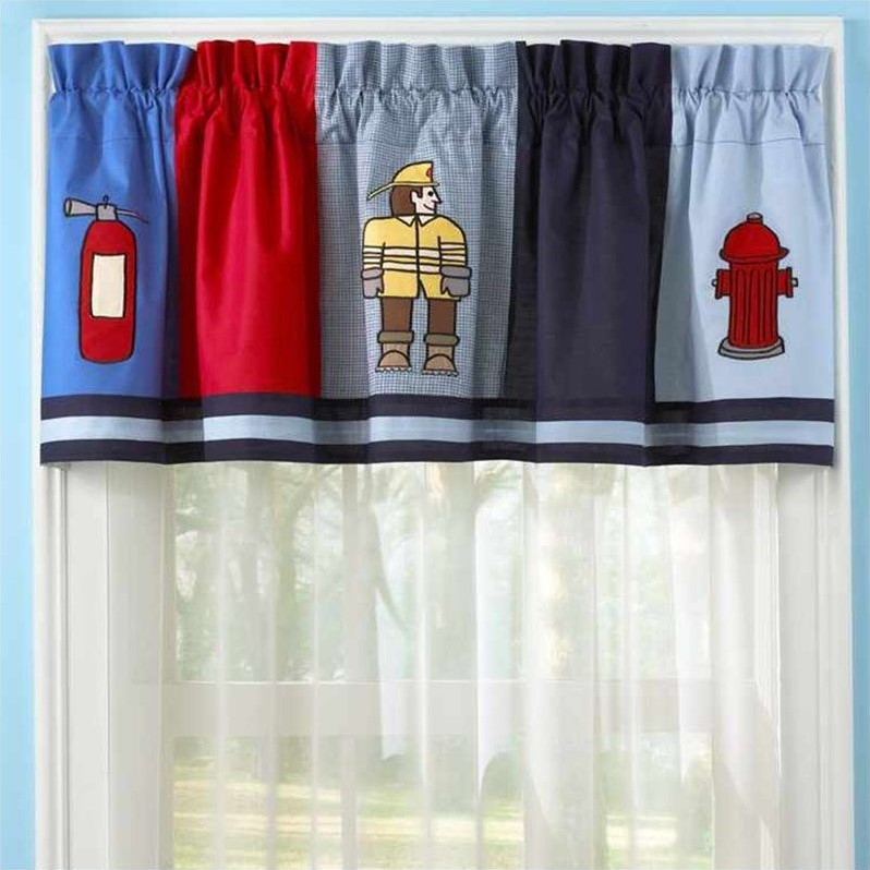 PEM America Fireman Window Valance in Multicolor