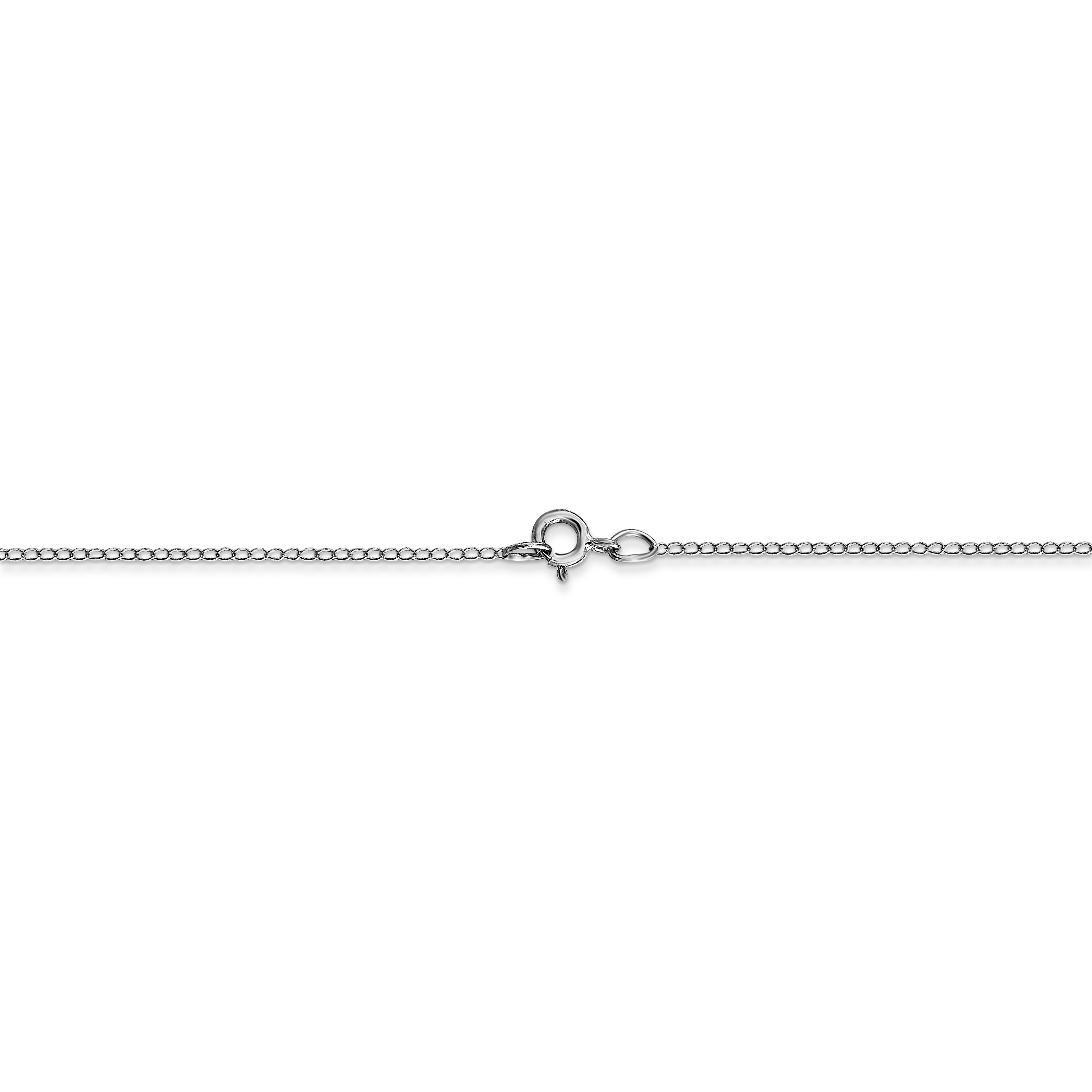 14k White Gold Carded Link Curb Chain Necklace 20 Inch Pendant Charm Fine Jewelry Gifts For Women For Her - image 2 of 6