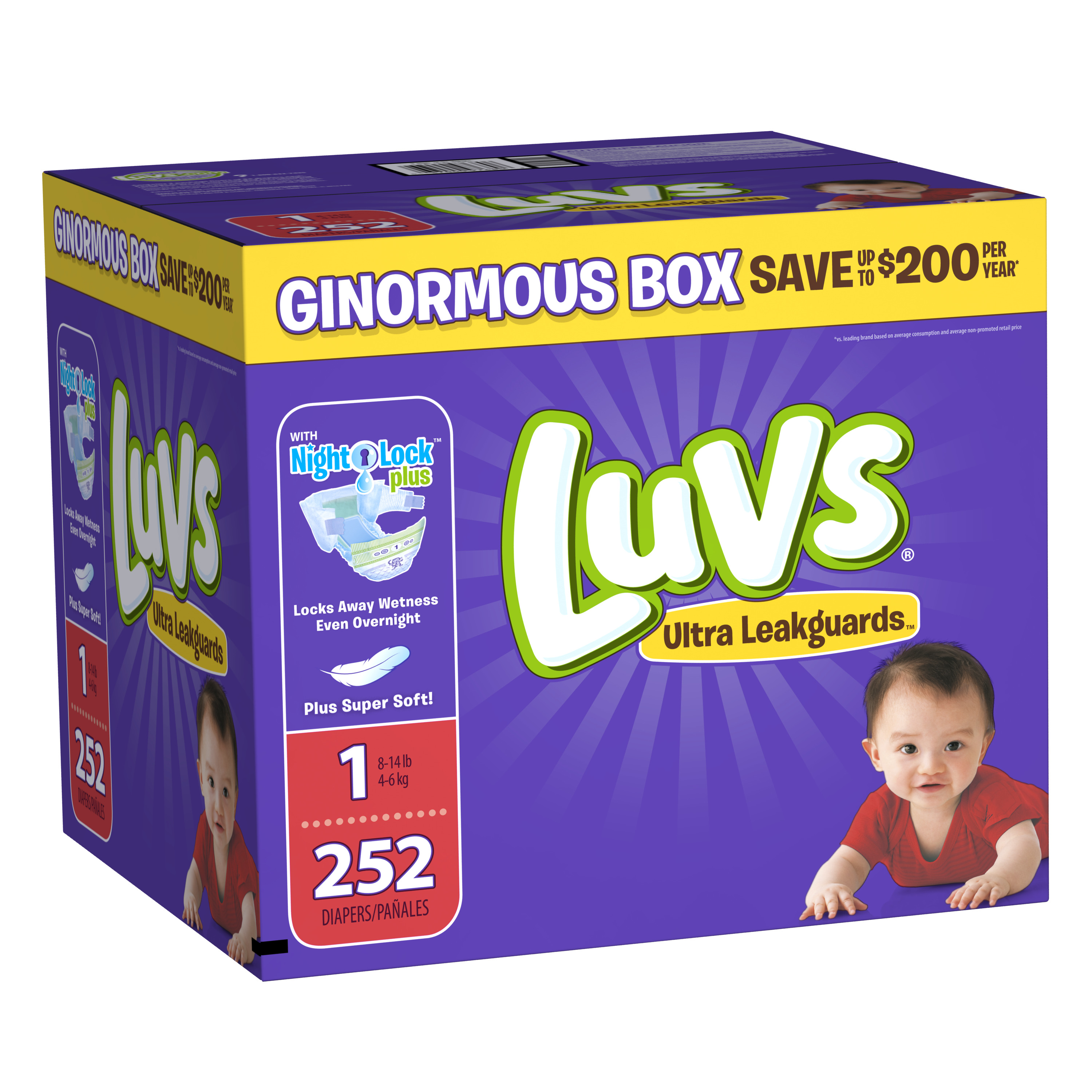 Luvs Ultra Leakguards Diapers (Choose Size and Count)