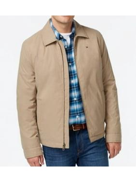 Tommy Hilfiger NEW Khaki Brown Mens Size LT Full-Zip Twill Jacket
