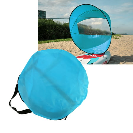 Clear Window Sail,Wind Paddle,HURRISE 108cm Foldable Kayak Wind Paddle Board Sail With Clear Window and Storage Bag
