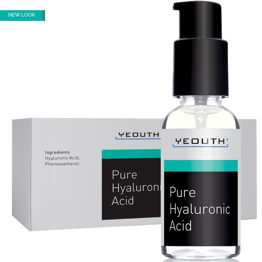 YEOUTH Hyaluronic Acid Serum for Face - 100% Pure Medical Quality Clinical Strength Formula! Holds 1,000 Times Its Own Weight in Water - Plumps and Hydrates - All Natural Moisturizer Serum