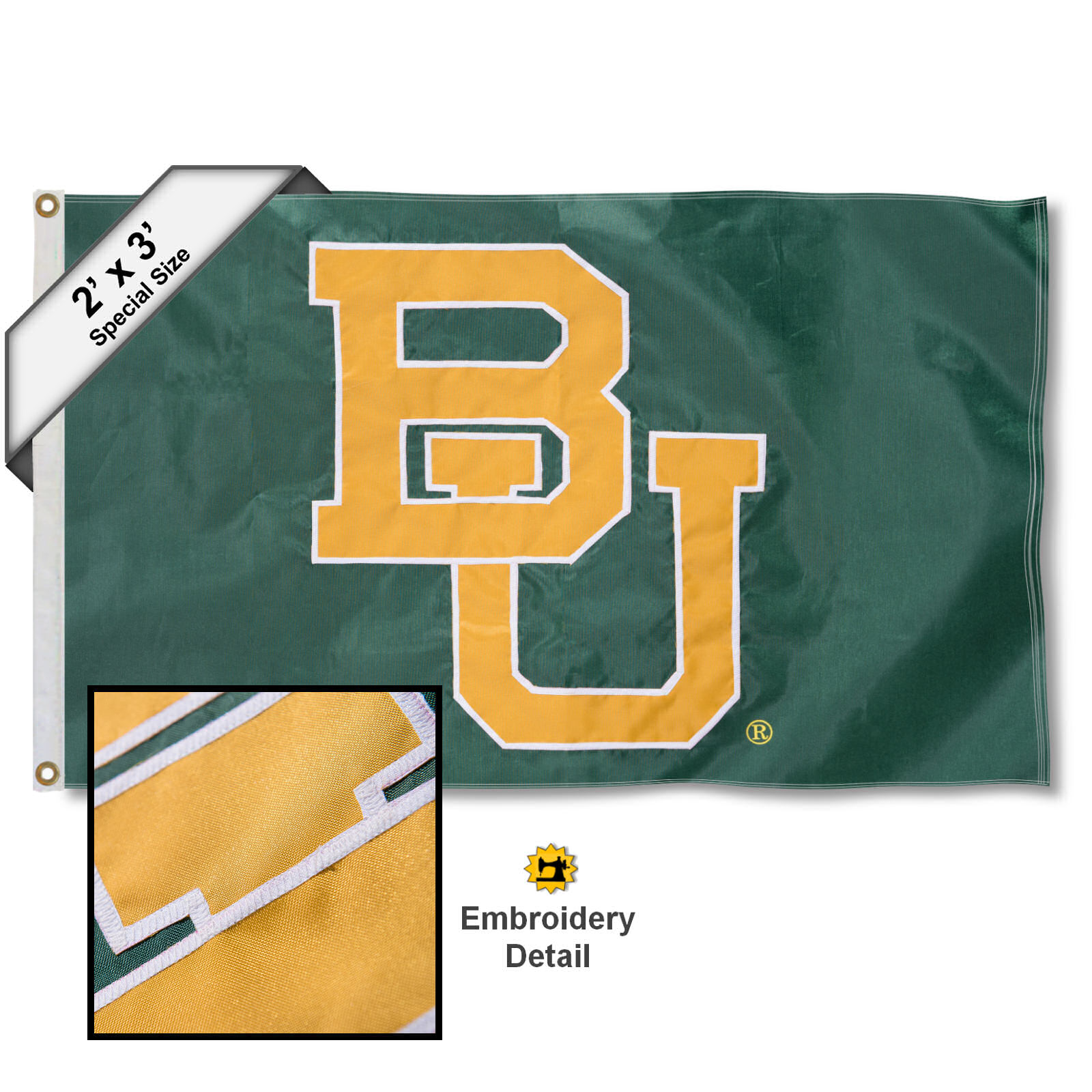 Baylor Bears 2' x 3' Applique Flag
