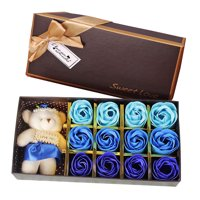 Iuhan New Valentine's Day Bear Gift Box Gift Rose Gift Small Gift 12 Soap Flower