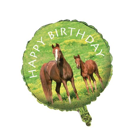 Club Pack of 12 Green and Brown Wild Horses Metallic