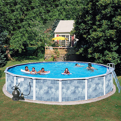 "Deep Above Ground Pools heritage round 24' x 52"" deep gold above ground swimming pool"