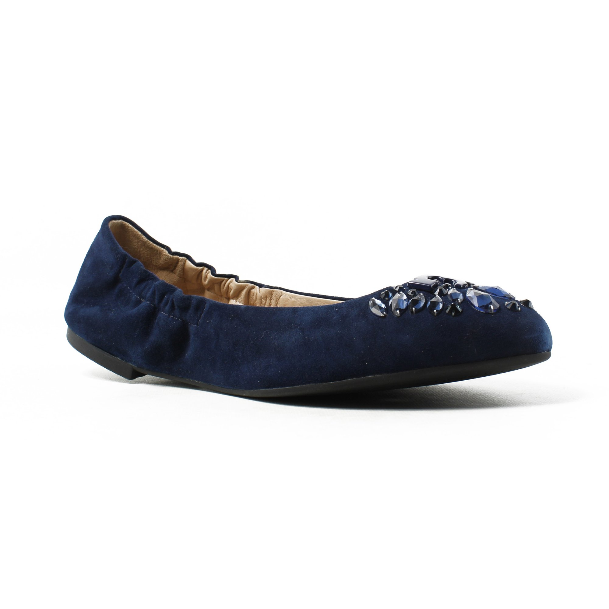 cb4d5d655 Buy Tory Burch Womens Blue Ballet Flats Size 10 New