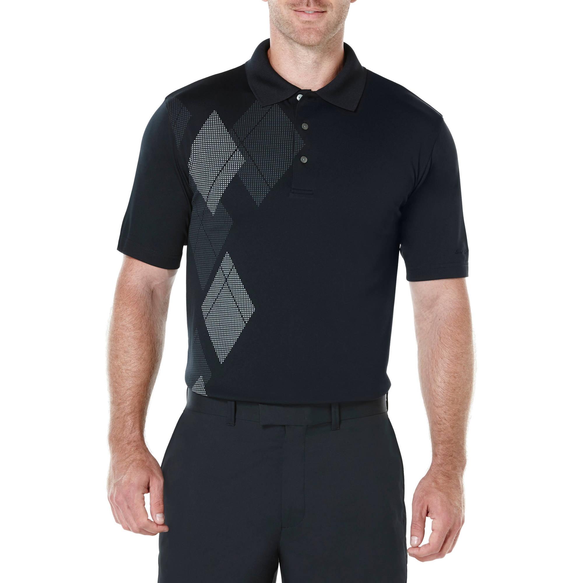 Ben Hogan Performance Big Men's Argyle Print Golf Polo Shirt