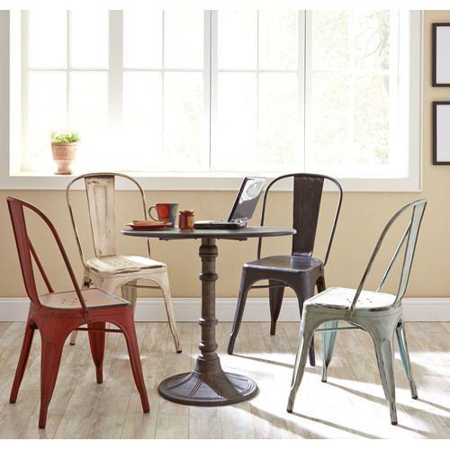 Coaster Oswego Round Dining Table in Distressed Black by Coaster