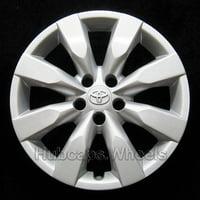 OEM Genuine Toyota Wheel Cover - Professionally Refinished Like New - Corolla 16-inch Hubcap 2014-2016 - 8 Spoke