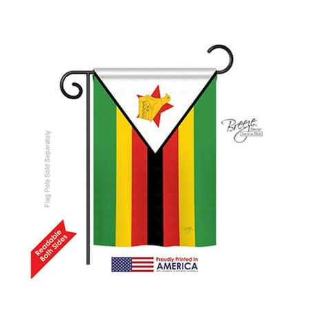 Breeze Decor 58283 Zimbabwe 2-Sided Impression Garden Flag - 13 x 18.5 in. - image 1 de 1