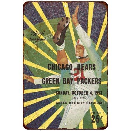 1953 Packers Vs  Bears Vintage Look Reproduction 8 X 12 Metal Sign 8120530