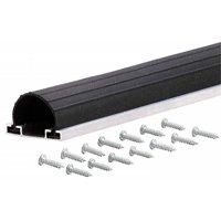 18 ft. Black Universal Aluminum & Rubber Garage Door Bottom