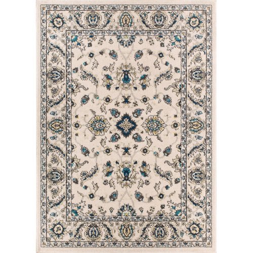 Charlton Home Giles Traditional Ivory Indoor Area Rug