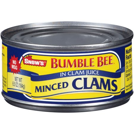 (4 Pack) Bumble Bee Snow's Minced Clams, 6.5 oz - Bumblebee Socks