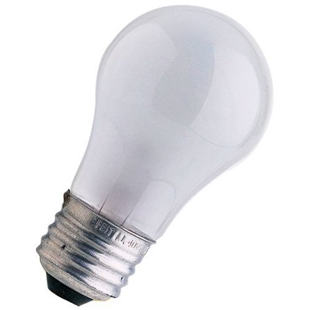 FeitElectric Frosted 120-Volt Incandescent Light Bulb Frosted 120-Volt Incandescent Light Bulb , 40w Appliance Bulb 2,5000 average life hours Can be used in any position Clear bulb that runs on 40 watts.It can be used inrefrigerators, freezers, ovens, and microwave ovens .