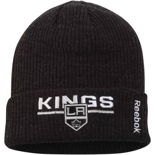 Los Angeles Kings Reebok Center Ice Locker Room Cuffed Knit Hat Black OSFA by Reebok