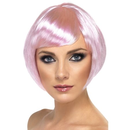 Babe Short Bob Pink Adult Costume Wig (Pink Costume Wigs)