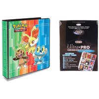 """Ultra Pro Pokemon X and Y 2"""" 3-Ring Binder with 100 Ultra Pro Platinum 9-Pocket Sheets"""