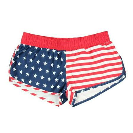 USA Patriotic American Flag Junior Swim Shorts - Walmart.com