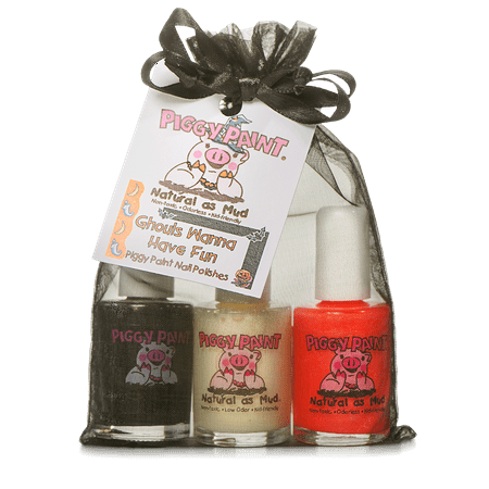 Piggy Paint - 100% Non-toxic Girls Nail Polish, Safe, Chemical Free, Low Odor for Kids Ghouls Wanna Have Fun Gift Set (Ghoul Makeup Ideas)