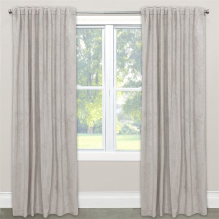 Skyline 96  Window Curtain Panel In Velvet Light Grey