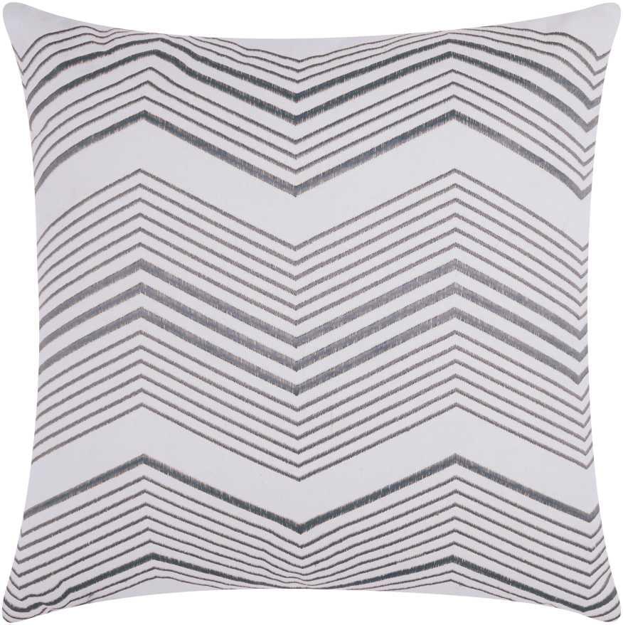 Nourison Luminecence Thin Chevron Silver Throw Pillow